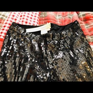 Anthropologie Pants & Jumpsuits - Issue Sequin Black Pants Skinny NWT